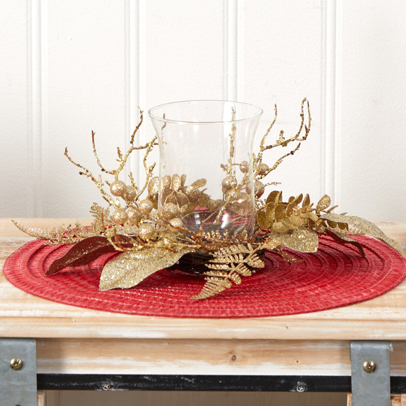 10 Golden Artificial Christmas Candelabrum - SKU #A1841 - 3