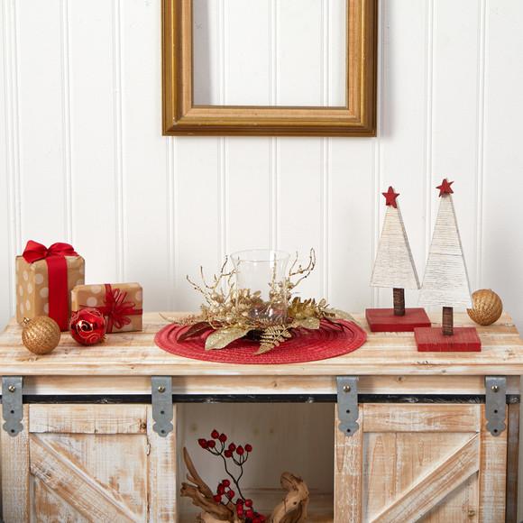 10 Golden Artificial Christmas Candelabrum - SKU #A1841 - 4