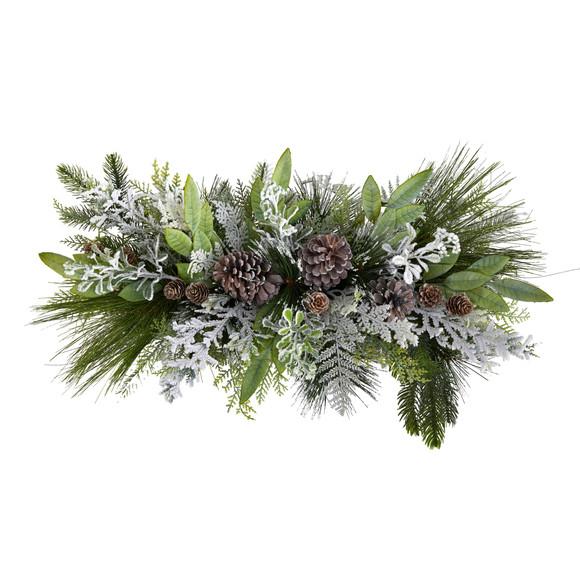 26 Holiday Flocked Winter Christmas Arrangement Cutting Board Wall Dcor or Table Arrangement - SKU #A1844 - 2