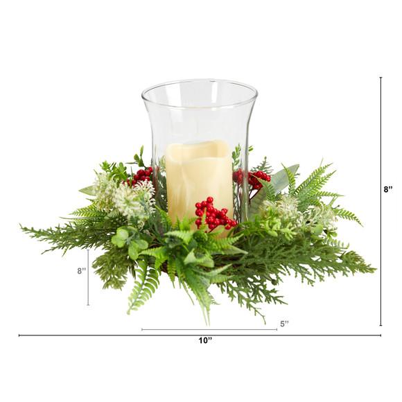 8 Cedar and Berries Artificial Christmas Arrangement Candelabrum - SKU #A1865 - 1