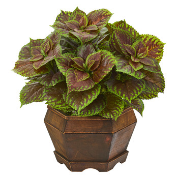 17 Coleus Artificial Plant in Decorative Planter Real Touch - SKU #P1008