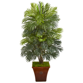 56 Areca Palm Artificial Plant in Brown Planter - SKU #P1040