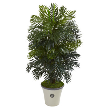 55 Areca Palm Artificial Plant in Decorative Planter - SKU #P1053