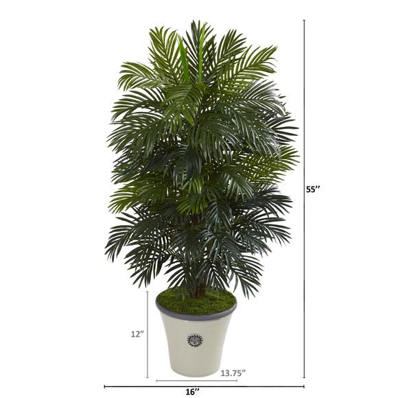 55 Areca Palm Artificial Plant in Decorative Planter - SKU #P1053 - 1