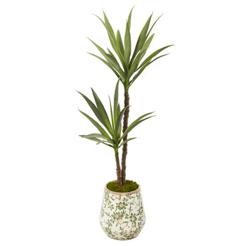 52 Yucca Artificial Plant in Floral Planter - SKU #P1085