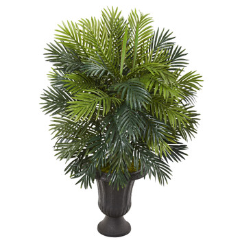 42 Areca Palm Artificial Plant in Decorative Brown Urn - SKU #P1092