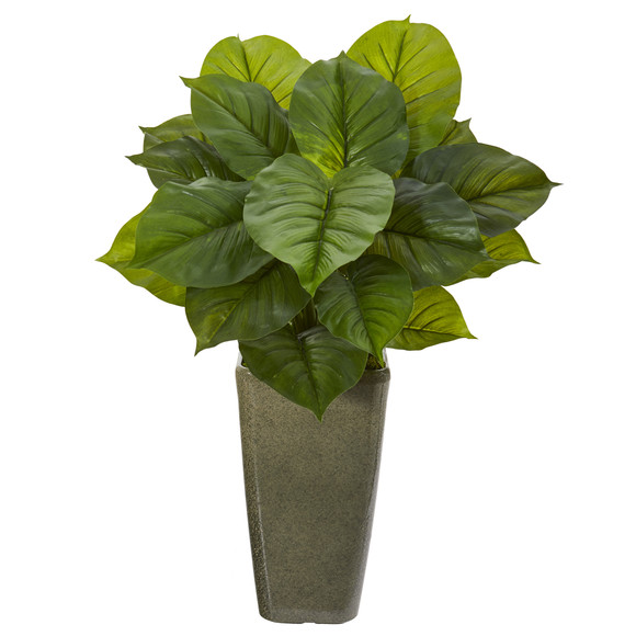 34 Large Philodendron Artificial Plant in Green Planter Real Touch - SKU #P1110