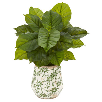 30 Large Philodendron Artificial Plant in Large Floral Planter Real Touch - SKU #P1113