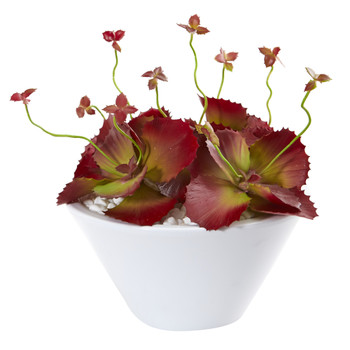 10 Succulent Artificial Plant in White Bowl - SKU #P1154