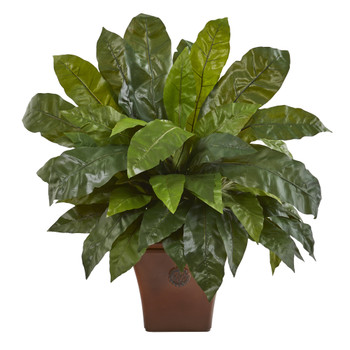 2.5 Birds Nest Fern Artificial Plant in Brown Planter - SKU #P1227