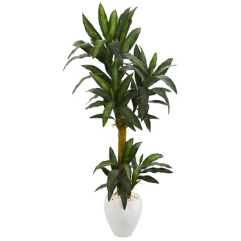 5 Yucca Artificial Plant in White Planter - SKU #P1237