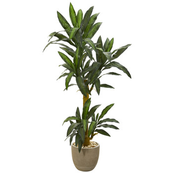 5 Yucca Artificial Plant in Sandstone Planter - SKU #P1239
