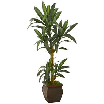 62 Yucca Artificial Plant in Decorative Planter - SKU #P1240