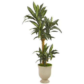 63 Yucca Artificial Plant in Decorative Urn - SKU #P1242