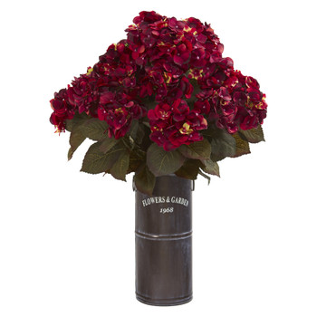 27 Hydrangea Artificial Plant in Decorative Planter - SKU #P1256