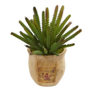 10 Cactus Succulent Artificial Plant in Decorative Planter - SKU #P1260