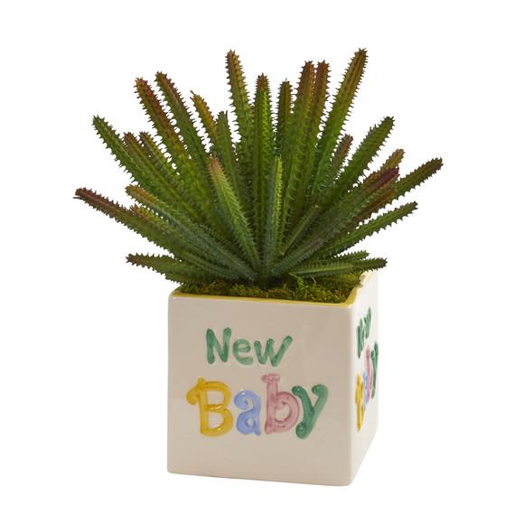 11 Cactus Artificial Plant in New Baby Planter - SKU #P1298
