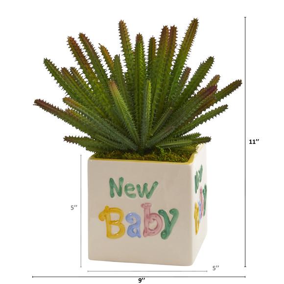 11 Cactus Artificial Plant in New Baby Planter - SKU #P1298 - 1