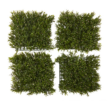 10.5 x 10.5 Rosemary Artificial Wall Mat UV Resistant Indoor/Outdoor Set of 4 - SKU #P1300-S4