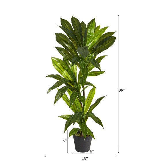 3 Dracaena Artificial Plant Real Touch - SKU #P1302 - 1