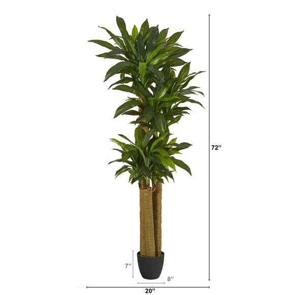 6 Corn Stalk Dracaena Artificial Plant Real Touch - SKU #P1305 - 1