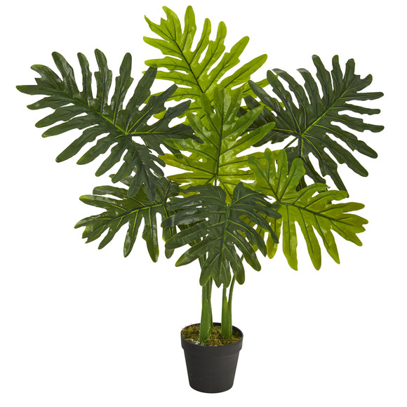 3 Philodendron Artificial Plant Real Touch - SKU #P1306