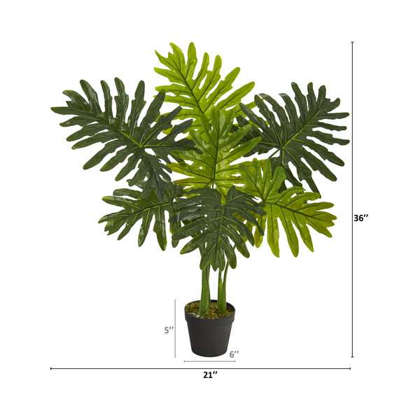 3 Philodendron Artificial Plant Real Touch - SKU #P1306 - 1