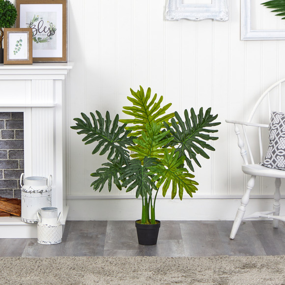 3 Philodendron Artificial Plant Real Touch - SKU #P1306 - 2