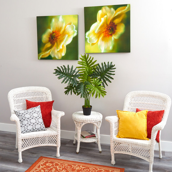 3 Philodendron Artificial Plant Real Touch - SKU #P1306 - 3