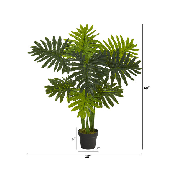 40 Philodendron Artificial Plant Real Touch - SKU #P1307 - 1