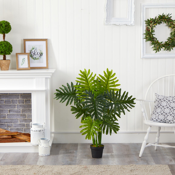 40 Philodendron Artificial Plant Real Touch - SKU #P1307 - 2