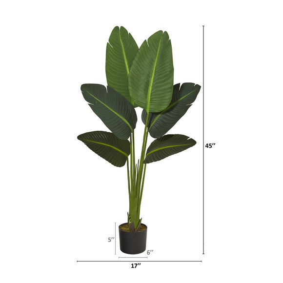 45 Travelers Palm Artificial Plant Real Touch - SKU #P1310 - 1