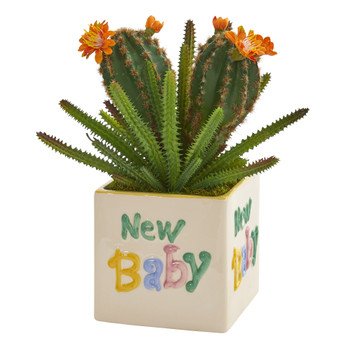 11 Cactus Succulent Artificial Plant in New Baby Planter - SKU #P1311