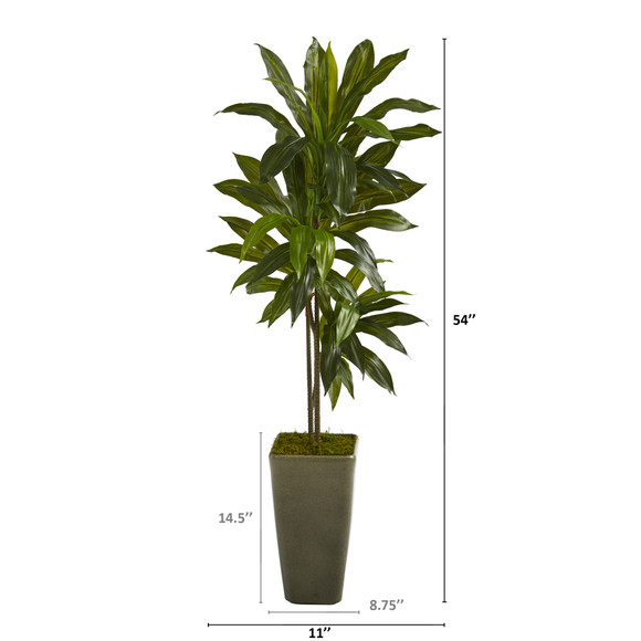 4.5 Dracaena Artificial Plant in Green Planter Real Touch - SKU #P1324 - 1