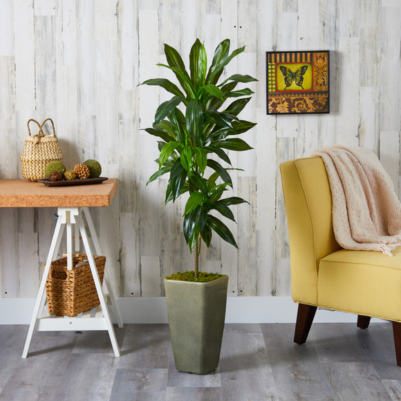 4.5 Dracaena Artificial Plant in Green Planter Real Touch - SKU #P1324 - 2
