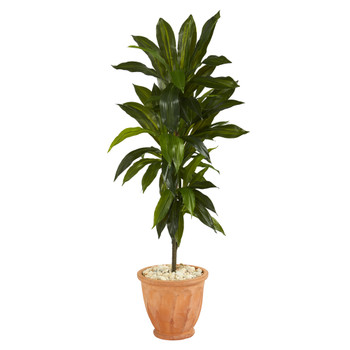 4 Dracaena Artificial Plant in Terra-Cotta Planter Real Touch - SKU #P1329