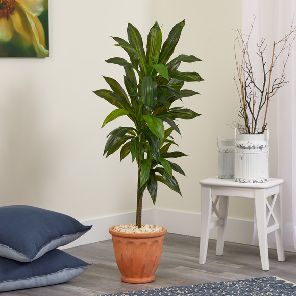 4 Dracaena Artificial Plant in Terra-Cotta Planter Real Touch - SKU #P1329 - 2