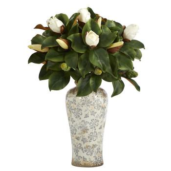 29 Magnolia Artificial Plant in Designer Planter - SKU #P1366