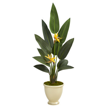 61 Bird of Paradise Artificial Plant in Decorative Urn Real Touch - SKU #P1405