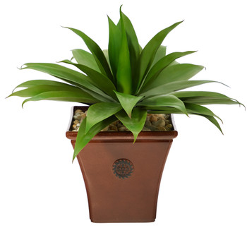 26 Agave Succulent Artificial Plant in Brown Planter - SKU #P1424