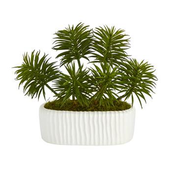 10 Succulent Artificial Plant in White Planter - SKU #P1476