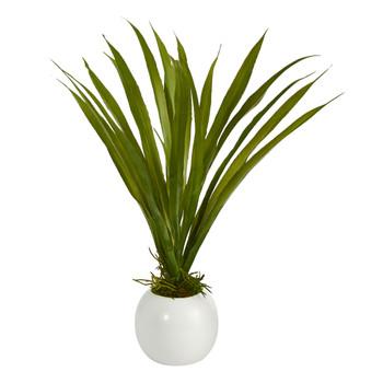 15 Grass Artificial Plant in Decorative Planter - SKU #P1490