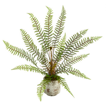 20 Fern Artificial Plant in Decorative Planter - SKU #P1509