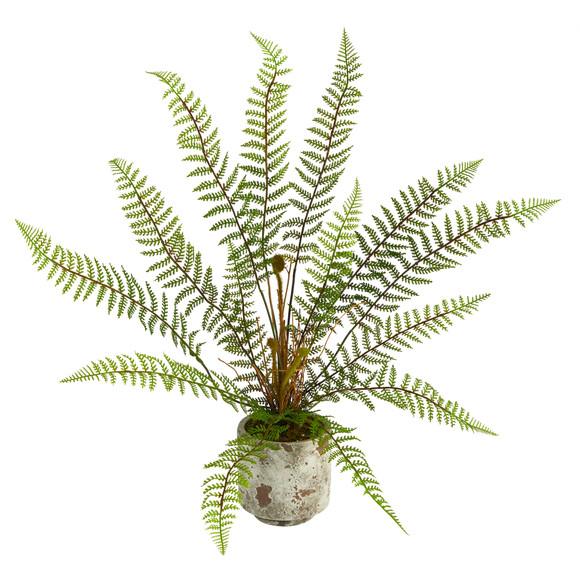 20 Fern Artificial Plant in Decorative Planter - SKU #P1509