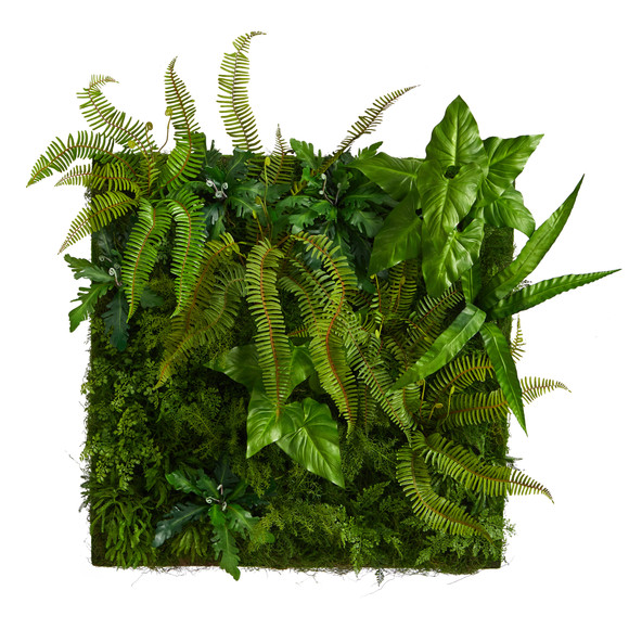 40 x 40 Forest Artificial Living Wall - SKU #P1510
