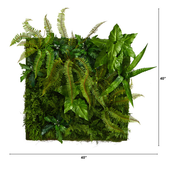 40 x 40 Forest Artificial Living Wall - SKU #P1510 - 1