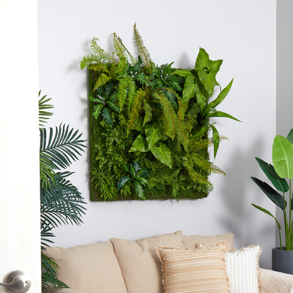 40 x 40 Forest Artificial Living Wall - SKU #P1510 - 2
