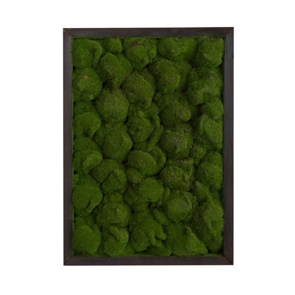 17 X 24 Artificial Moss Hanging Frame - SKU #P1513