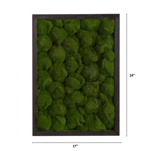 17 X 24 Artificial Moss Hanging Frame - SKU #P1513 - 1
