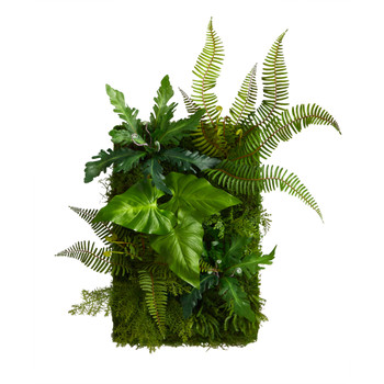 24 x 16 Mixed Foliage Artificial Living Wall - SKU #P1514